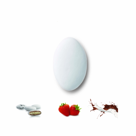 Κουφέτα διπλής σοκολάτας deluxe φράουλα Καραμάνης για μπομπονιέρες γάμου, βάπτισης candy bar, ζαχαροπλαστική