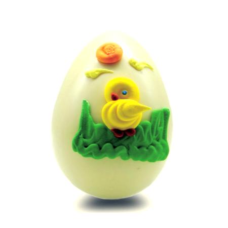 Πασχαλινά σοκολατένια αυγά χειροποίητα με γνήσια λευκή σοκολάτα κουβερτούρα και φυσικές χρωστικές